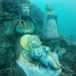 Il suggestivo presepe subacqueo di Villalago